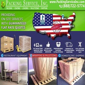 Ship Palletized Restaurant Equipment from VA to MI
